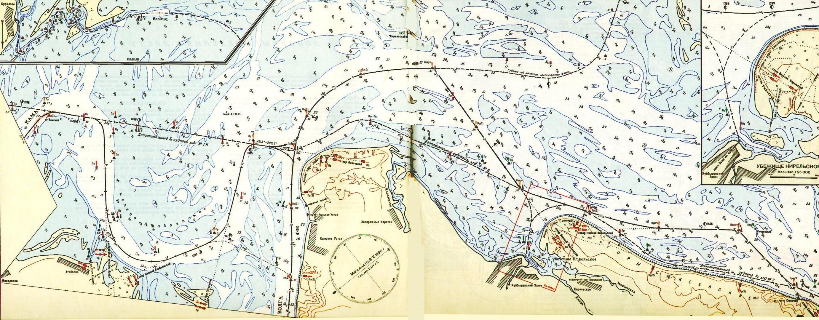 карта камского водохранилища рыбалка